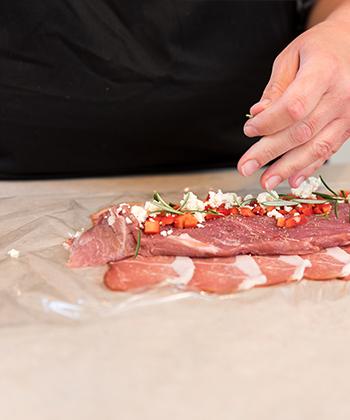 Fyld og rul dit kød