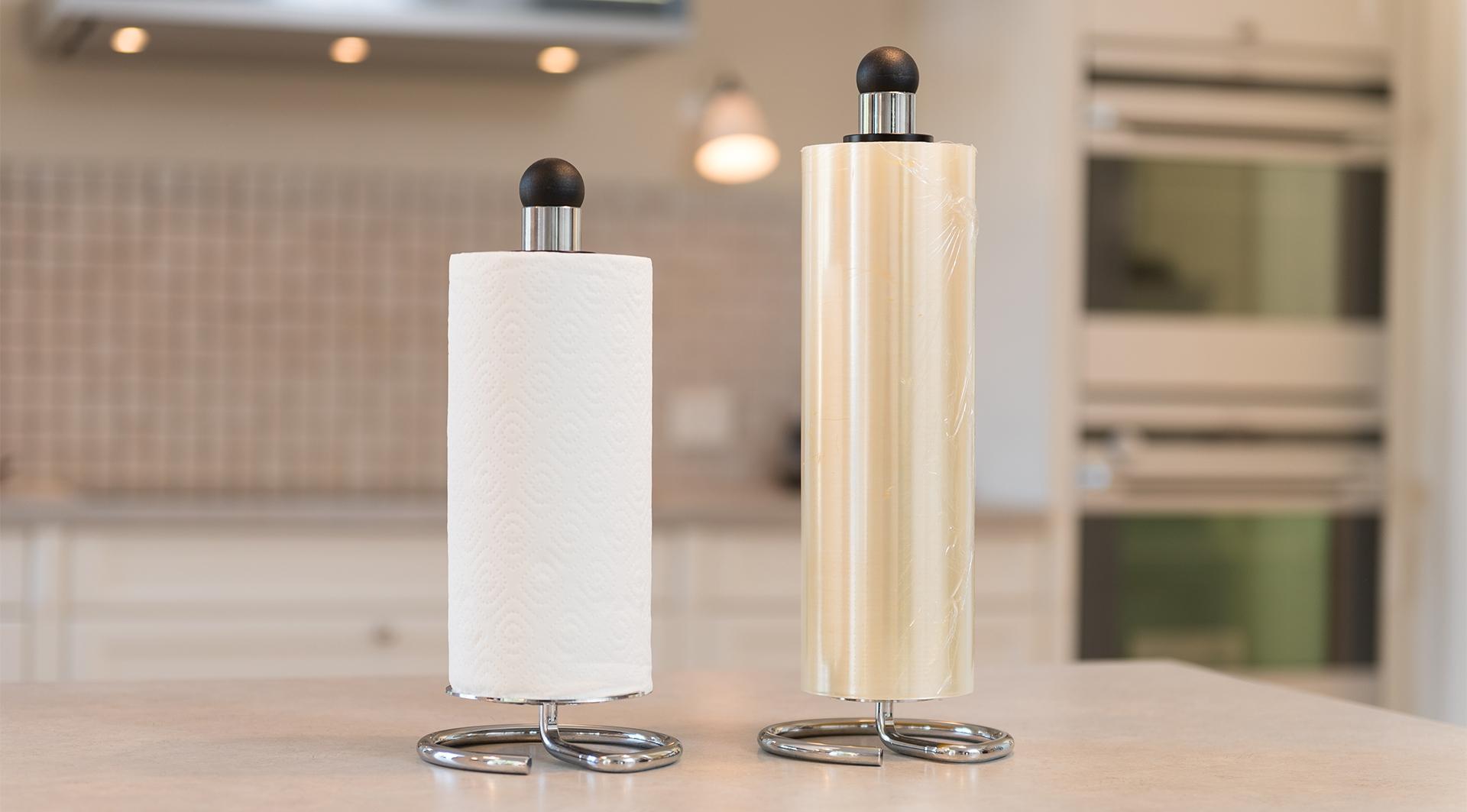 Snupit Paper som køkkenrulleholder og Snupit Wrapper som filmrulleholder